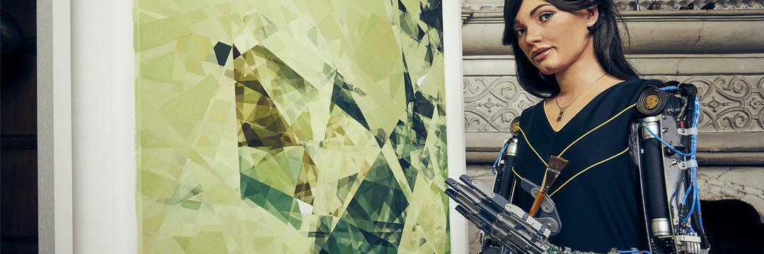 Robô artista tem sua primeira exposição em Londres