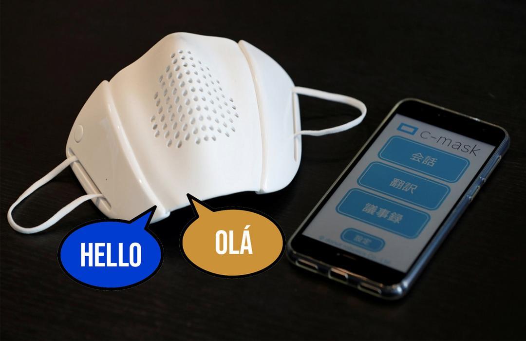 Empresa cria Smart Máscara que traduz conversas em 9 idiomas