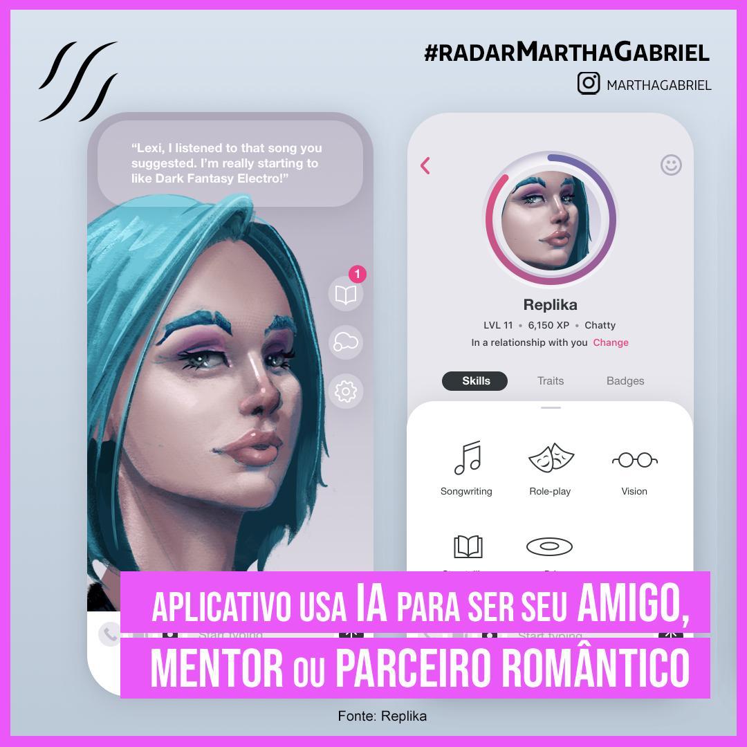 Aplicativo usa Inteligência Artificial para ser seu amigo, mentor ou parceiro romântico