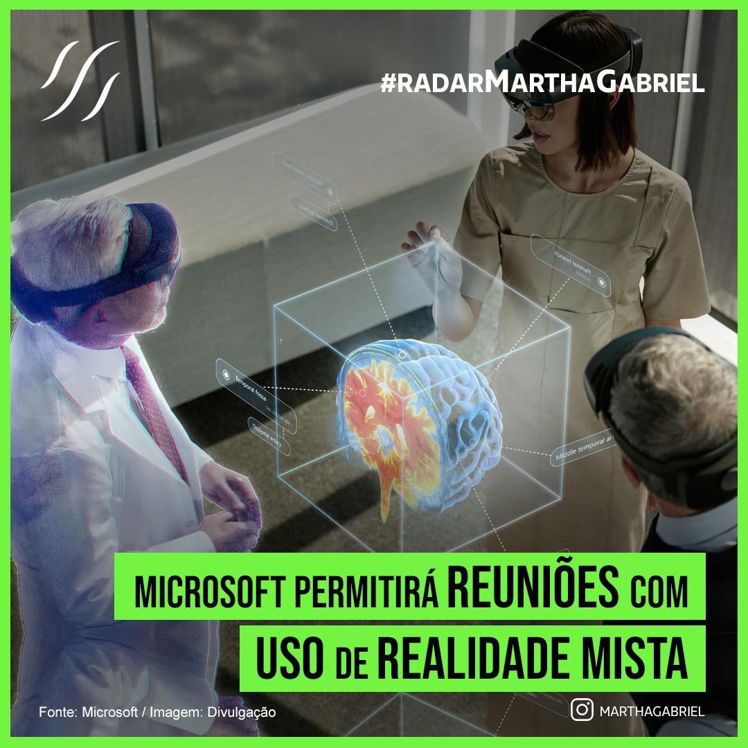 Microsoft permitirá reuniões com o uso de realidade mista