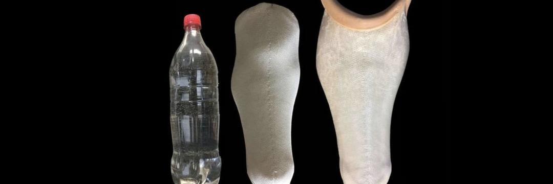 Pesquisadores transformam garrafas PET em próteses
