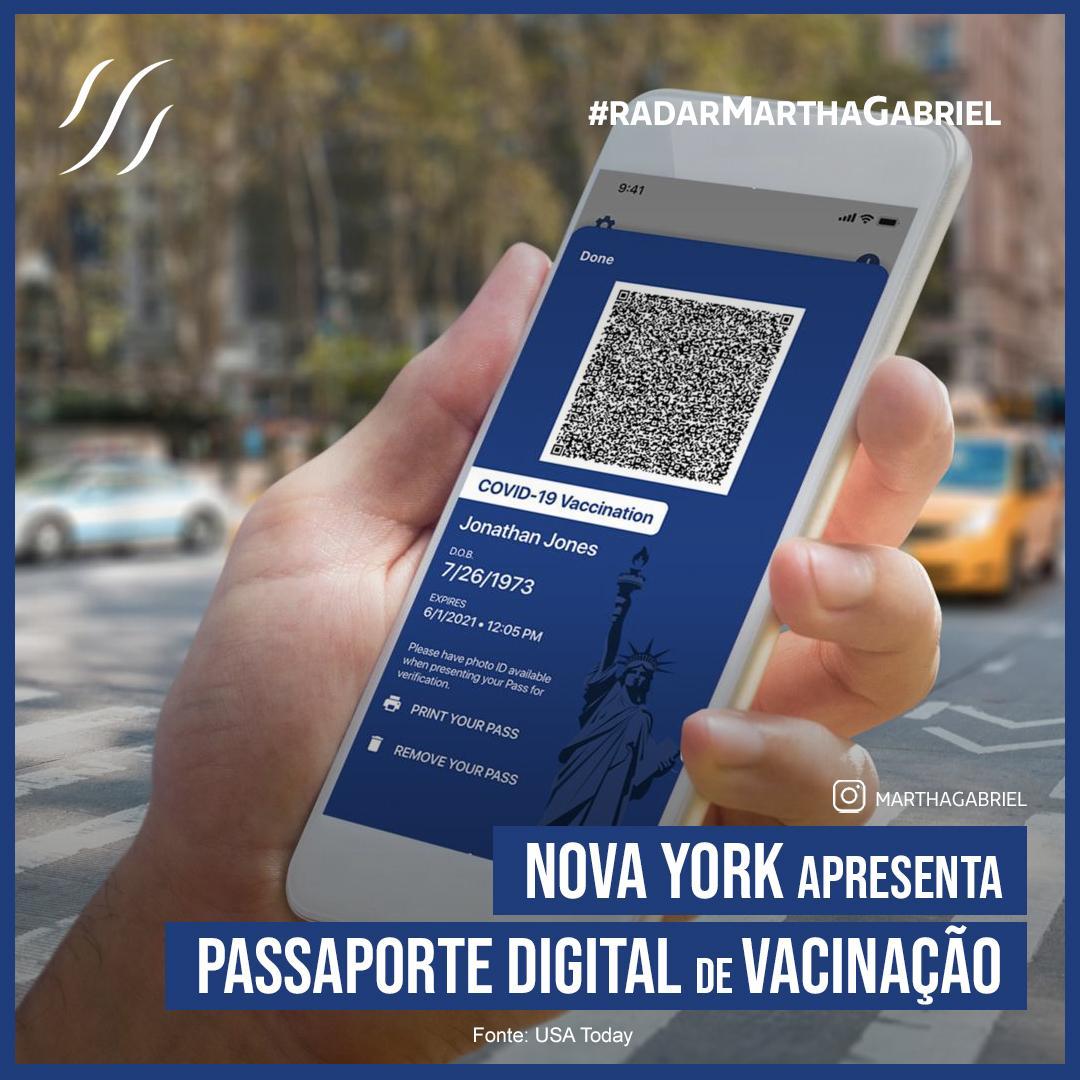 Nova York apresenta passaporte digital de vacinação