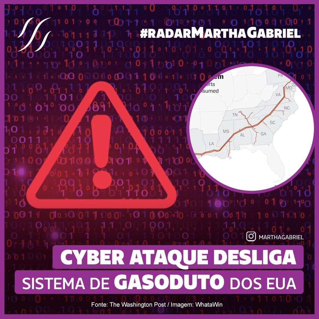 Cyber ataque desliga sistema de gasoduto dos Estados Unidos