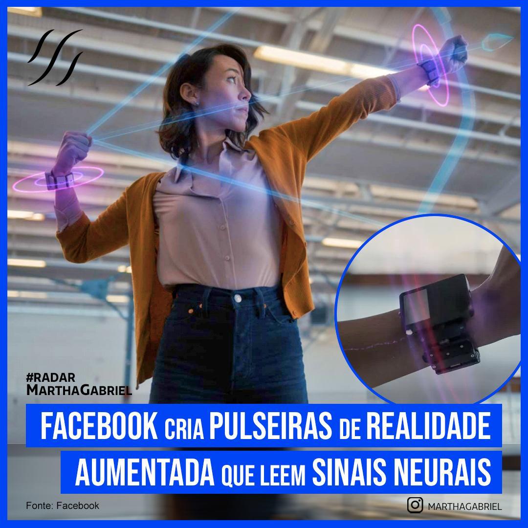 Facebook cria pulseiras de realidade aumentada que leem sinais neurais