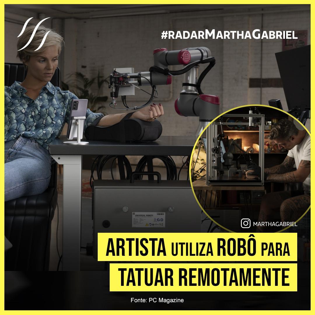 Artista utiliza robô para tatuar remotamente