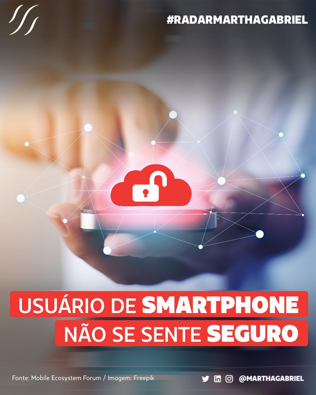 Usuário de smartphone não se sente seguro