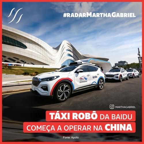 Táxi Robô da Baidu começa a operar na China