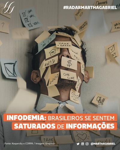 Infodemia: brasileiros se sentem saturados de informações