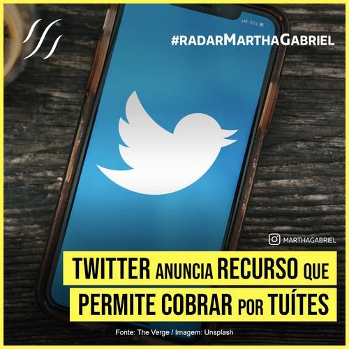 Twitter anuncia recurso que permite cobrar por tuítes