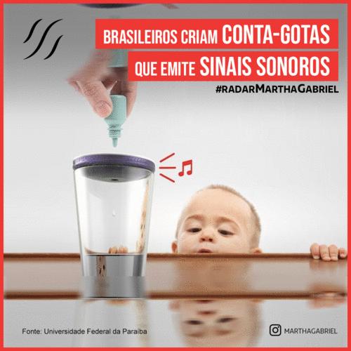 Brasileiros criam conta-gotas que emite sinais sonoros
