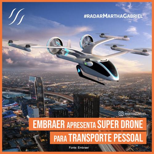 Embraer apresenta super drone para transporte de pessoas