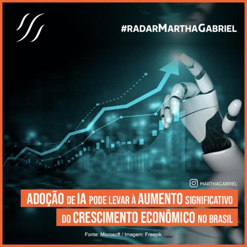 Adoção de IA pode levar à aumento significativo do crescimento econômico no Brasil