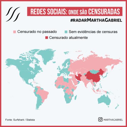 Redes Sociais: onde são censuradas