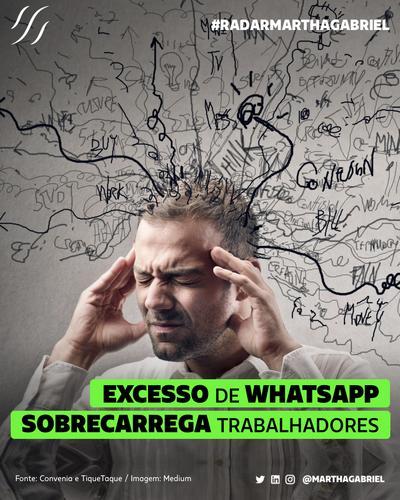 Excesso de WhatsApp sobrecarrega trabalhadores