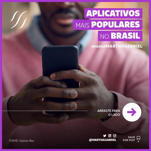 Aplicativos mais populares no Brasil