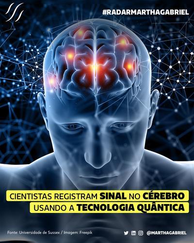 Cientistas registram sinal no cérebro usando tecnologia Quântica